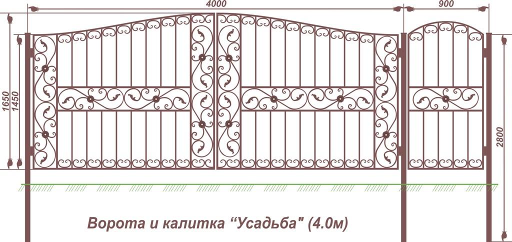 ворота усадьба (4.0)